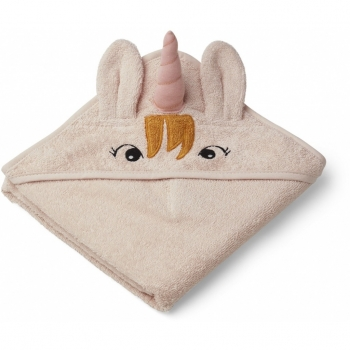 Augusta Unicorn Hooded Towel Sorbet Rose