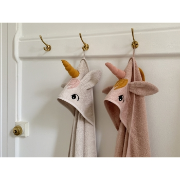 Augusta Unicorn Hooded Towel Sandy