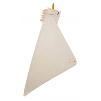 Augusta Unicorn Hooded Towel Sandy