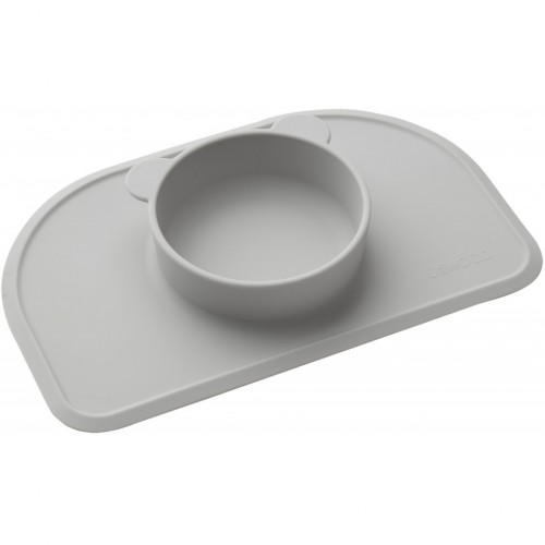Dumbo Grey Silicone Placemat with Bowl - Polly