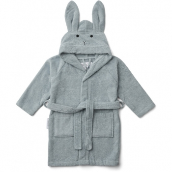 Rabbit Bathrobe - Lily - Sea Blue