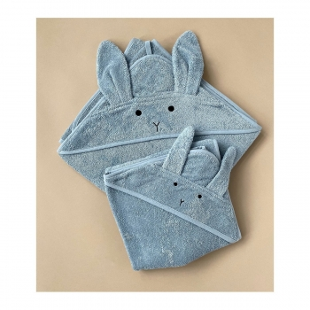 Rabbit Towel - Augusta - Sea Blue