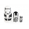 Black & White Animals Nesting Dolls