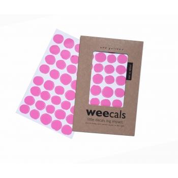 Hot Pink Dots Weecals