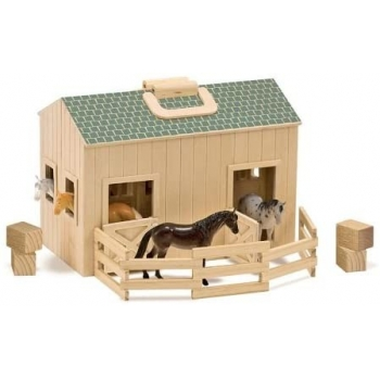 Fold & Go Wooden Stable