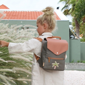 Palm Tree Print Small Backpack