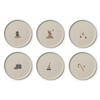 Patrick Bamboo Plate 6-pack Holiday Mix