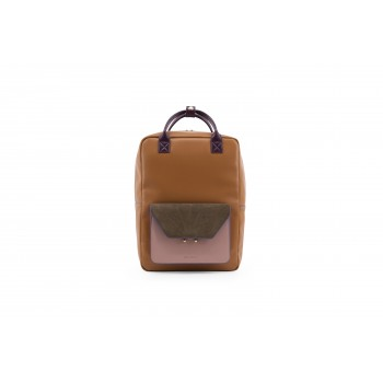 Cider Brown Vegan Leather Backpack - The Sticky Sis Club