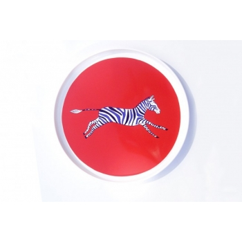 Red Zebra Plate