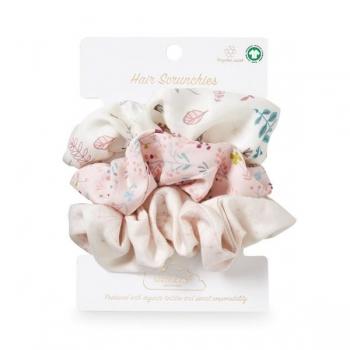 Hair Scrunchies Set of 3 - Print Mix Rose