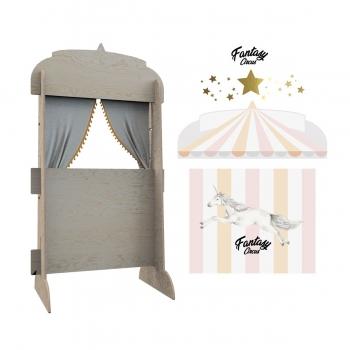 Puppet Theatre & Bookshelf - Fantasy Circus Pink