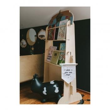 Puppet Theater & Bookshelf - Fantasy Circus Blue
