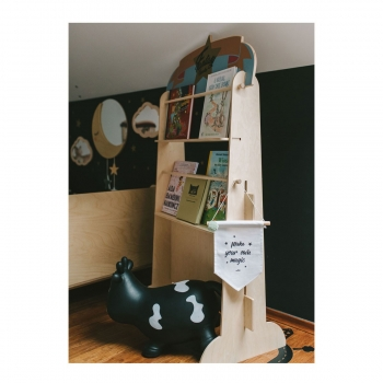 Puppet Theater & Bookshelf - Fantasy Circus Retro