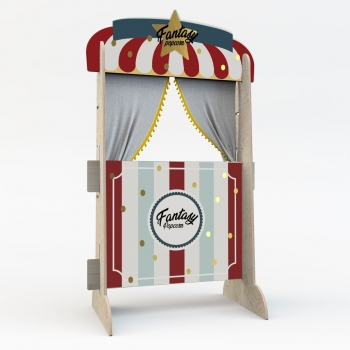 Puppet Theater & Bookshelf - Fantasy Popcorn Shop