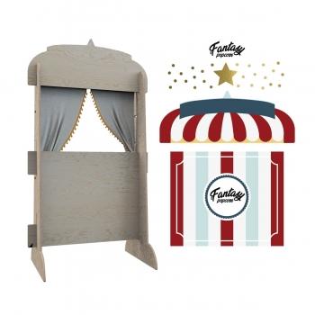 Puppet Theater & Bookshelf - Fantasy Popcorn Shop