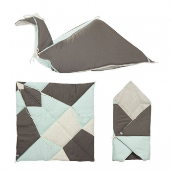 Jade Play-Fold-Bird Blanket