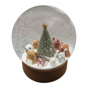 Woodland Animals Christmas Snowglobe