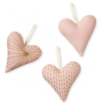 Decorative Hearts Set of 3 - Blossom Pink