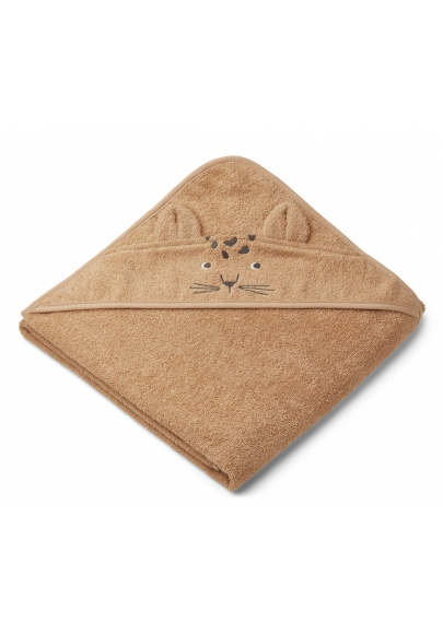 Leopard Hooded Towel Apricot - Augusta