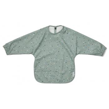 Long Sleeve Mint Confetti Eating Bib - Merle