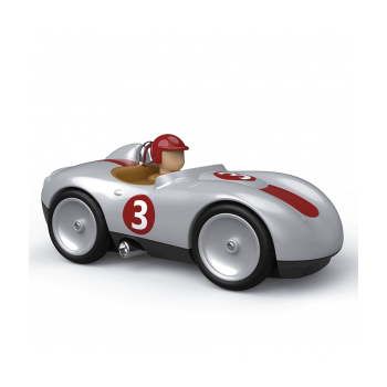 Vintage Toy Sports Car - Silver - Baghera