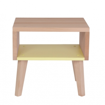 Nightstand & Side Table Underscore - Lemon Yellow