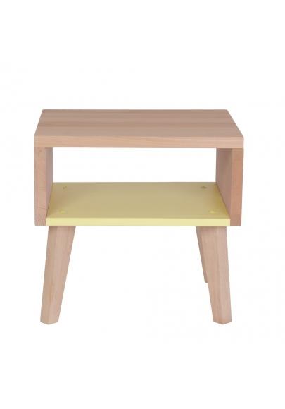 Nightstand & Side Table Underscore - Lemon Yellow
