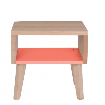 Nightstand & Side Table Underscore - Aurora Red