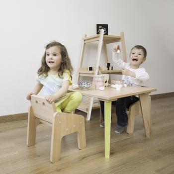 Kids' Table Mini Boudoir - Lemon Yellow
