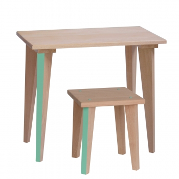 Kids' Table Maternelle - Mint green