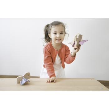 Wooden Pegasus Toy - Chambray