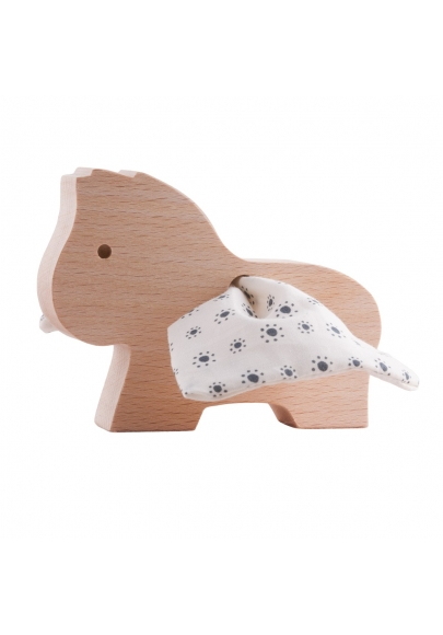 Wooden Pegasus Toy - Small Flowers