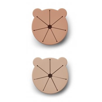 Snack Cup Mr Bear Rose Kelly  - 2 pack